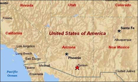 Tucson Arizona Karte.Tennis Getaways Map